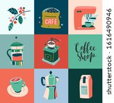 poster for coffee shop or cafe  ... | Shutterstock .eps vector #1616490946