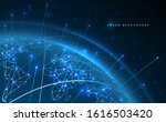 world map network connection... | Shutterstock .eps vector #1616503420