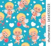 seamless pattern for valentine...   Shutterstock .eps vector #1616520223