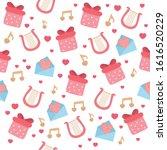 seamless pattern for valentine...   Shutterstock .eps vector #1616520229