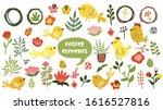 big set of easter elements... | Shutterstock .eps vector #1616527816