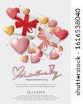 valentine day celebration...   Shutterstock .eps vector #1616538040