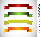 colorful ribbon vector | Shutterstock .eps vector #161654384
