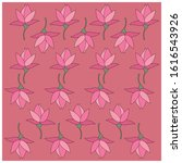 floral pattern with a flat... | Shutterstock .eps vector #1616543926