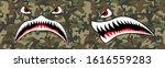 flying tiger shark for t shirt... | Shutterstock .eps vector #1616559283