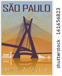 Sao Paulo Vintage Poster In...