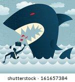 abstract businessman falls prey ... | Shutterstock . vector #161657384