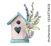 Watercolor Spring Card With...