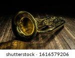 Golden Brass Wind Instrument...