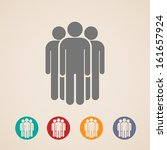 vector icons of people group  | Shutterstock .eps vector #161657924