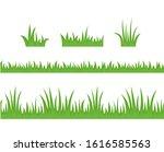 green grass set. seamless...   Shutterstock .eps vector #1616585563