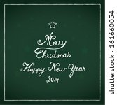 merry christmas and happy new... | Shutterstock .eps vector #161660054