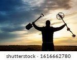A Happy Treasure Hunter With A...