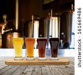 beer flight | Shutterstock . vector #161669486