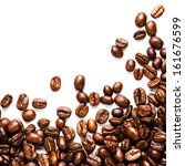 roasted coffee beans ... | Shutterstock . vector #161676599