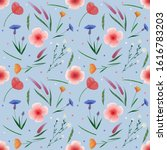 seamless pattern. watercolor... | Shutterstock . vector #1616783203