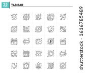 25 tab bar icon set. vector...