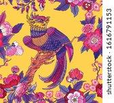 dark enchanted vintage flowers... | Shutterstock .eps vector #1616791153