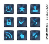 icon set on dark blue buttons....