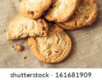 chocolate chips cookies on... | Shutterstock . vector #161681909