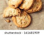 chocolate chips cookies on... | Shutterstock . vector #161681909
