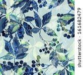 leaves seamless pattern | Shutterstock . vector #161682479