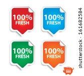 vector  100 percent fresh... | Shutterstock .eps vector #161682584