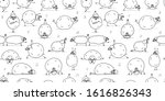 funny sheep doing yoga ... | Shutterstock .eps vector #1616826343