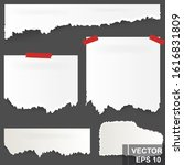 torn piece of paper. for notes. ... | Shutterstock .eps vector #1616831809