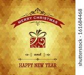 vector christmas card. | Shutterstock .eps vector #161684468