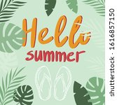 hello summer. illustration with ...   Shutterstock .eps vector #1616857150