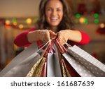 Closeup On Christmas Shopping...