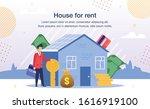 comfortable home for rent offer ... | Shutterstock .eps vector #1616919100