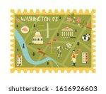 Postal Stamp With Washington...