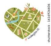 Washington Illustrated Map Wit...