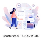 virtual reality concept. tiny... | Shutterstock .eps vector #1616945836