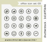 modern flat design office icons ...