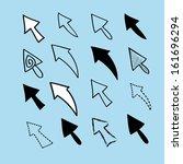 graphic design element set ... | Shutterstock .eps vector #161696294