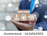 Small photo of Resilience Business Concept. Resilient Education Success.