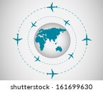 airplanes and globe | Shutterstock . vector #161699630