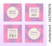 set of social media banner post ... | Shutterstock .eps vector #1617000676