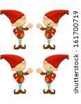 red elf   presenting | Shutterstock .eps vector #161700719