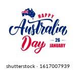 happy australia day hand drawn  ...   Shutterstock .eps vector #1617007939