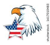 usa eagle and star design ... | Shutterstock .eps vector #1617010483