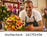 photo of smiling florist... | Shutterstock . vector #161701436