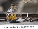 Little Ship In A Bottle Souvenir