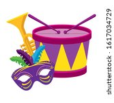 Mardi Gras Drum Trumpet And...