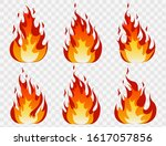 fire flames set and line light... | Shutterstock .eps vector #1617057856