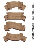 cartoon brown wooden plate and... | Shutterstock .eps vector #1617063103