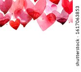 Watercolor Header With Pink And ...